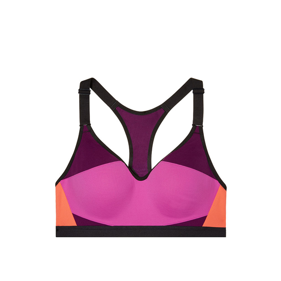 VICTORIA\'S SECRET NEW! Incredible by Victoria Sport Bra Dragonfruit Colorblock Outlet Store