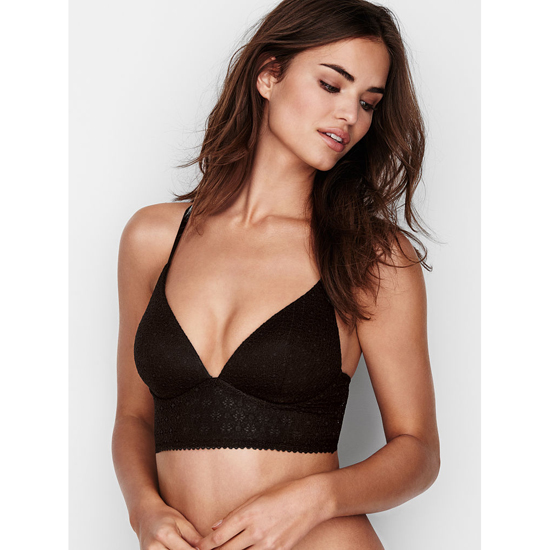 VICTORIA'S SECRET Easy Plunge Bra Black Lace Outlet Store