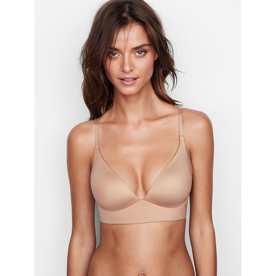 VICTORIA'S SECRET Easy Plunge Bra Nude Outlet Store