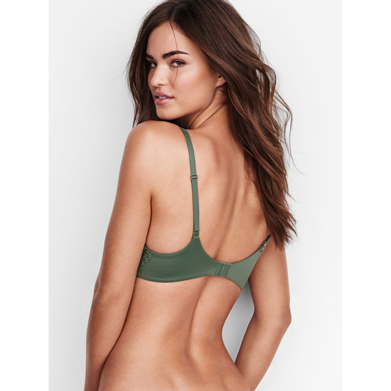 VICTORIA\'S SECRET NEW! Perfect Coverage Bra Cadette Green Crochet Lace Outlet Store