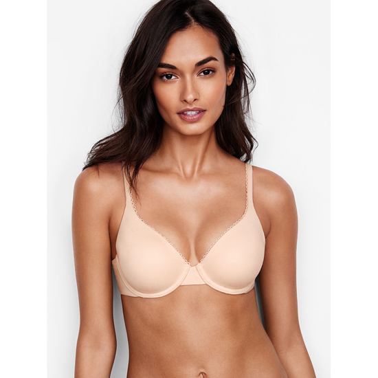 VICTORIA'S SECRET NEW! Perfect Coverage Bra Champagne Outlet Store