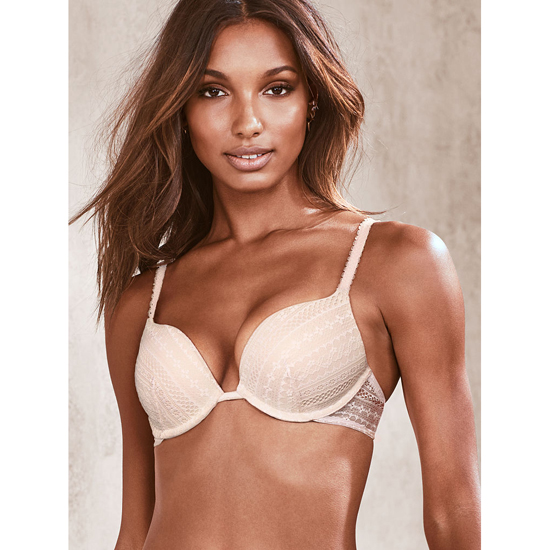 VICTORIA\'S SECRET Push-Up Bra Coconut White Lace Outlet Store