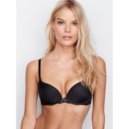 VICTORIA'S SECRET Push-Up Bra Black With Metropolis Solid Lace Outlet Store