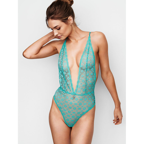 VICTORIA'S SECRET Teddies & Bodysuits Cozumel Teal Outlet Store