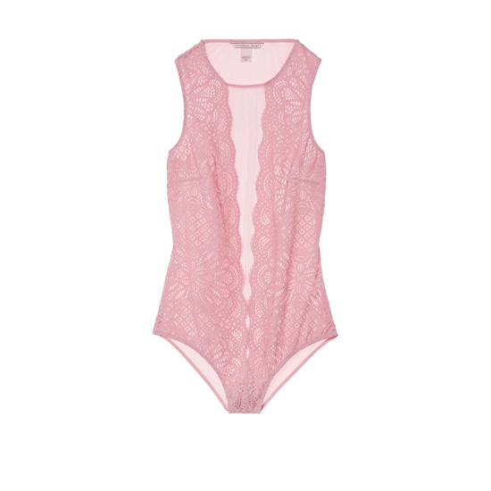 VICTORIA'S SECRET NEW! Lace & Mesh Bodysuit Winter Rose Outlet Store