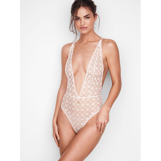 VICTORIA'S SECRET Teddies & Bodysuits Coconut White Outlet Store