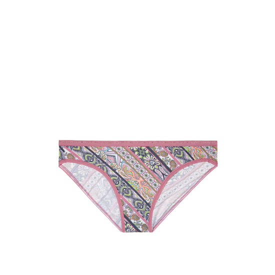 VICTORIA'S SECRET NEW! Bikini Panty Rosy Mauve Diagonal Stripe Outlet Store