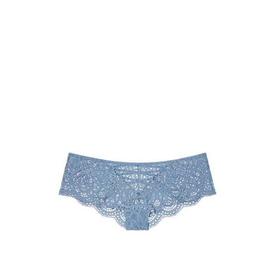 VICTORIA'S SECRET NEW! Lace-up Cheekster Panty Faded Denim Outlet Store