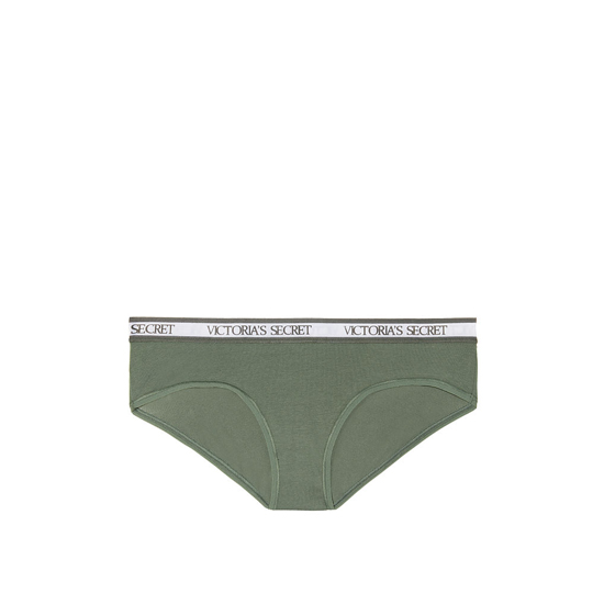VICTORIA'S SECRET NEW! Logo-waist Hiphugger Panty Cadette Green Outlet Store