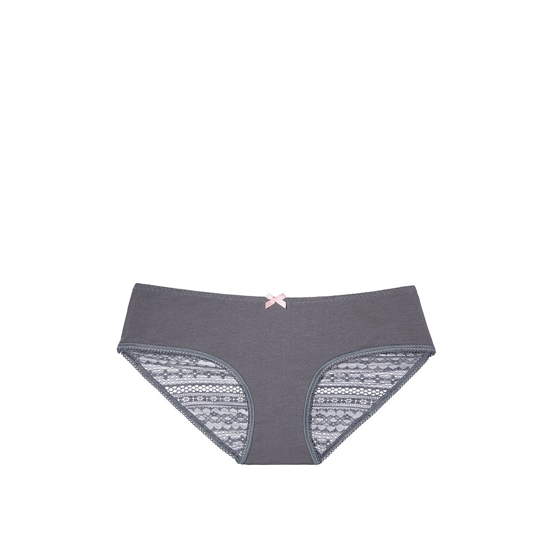 VICTORIA'S SECRET NEW! Heart Ruched-back Hiphugger Panty Black Pearl Outlet Store