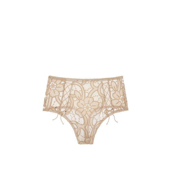 VICTORIA'S SECRET NEW! Lace High-waist Thong Panty Sugar Cookie Outlet Store