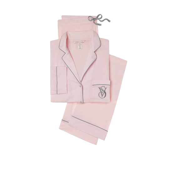 VICTORIA'S SECRET NEW! The Sleepover Knit Pajama Angel Pink Outlet Store