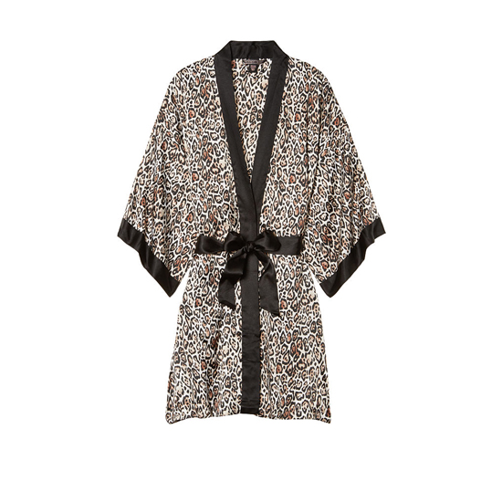 VICTORIA'S SECRET NEW! Satin Kimono Play Nice Leopard Outlet Store