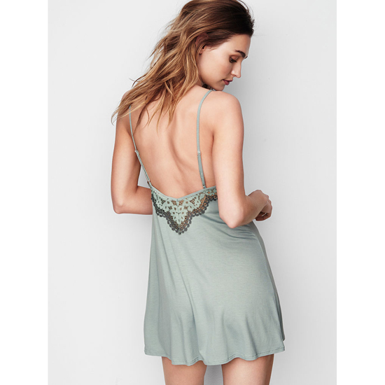 VICTORIA'S SECRET NEW! Supersoft Low-back Slip Silver Sea Outlet Store
