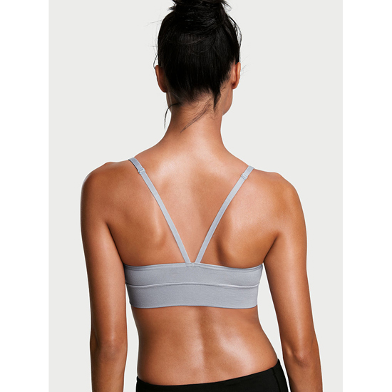 VICTORIA\'S SECRET Triangle Seamless Sport Bra Grey Oasis Outlet Store