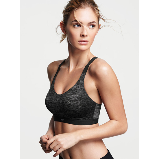 VICTORIA\'S SECRET NEW! Lightweight by Victoria Sport Bra Coed Marl Outlet Store